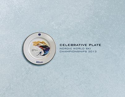 CELEBRATIVE PLATE NORDIC WORLD SKI CHAMPIONSHIPS 2013