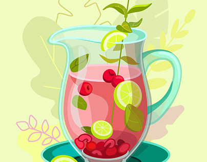 Drink and food illustrations