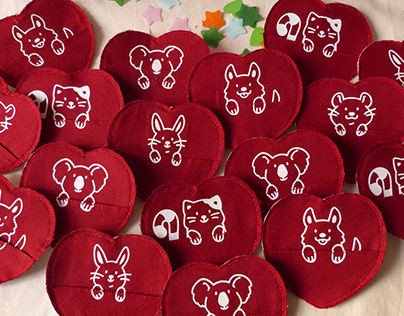 Valentine's Day - cute handmade stationery