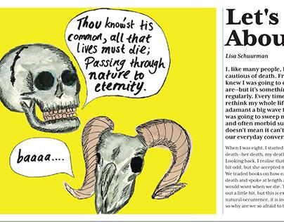 Lets Talk About Death! Illustration for The Gazette