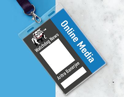 Watchdog News - Logo and press card design
