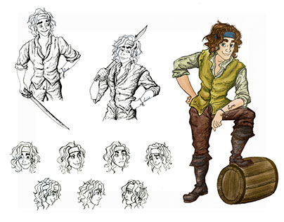 Pirate Character Design - Harry