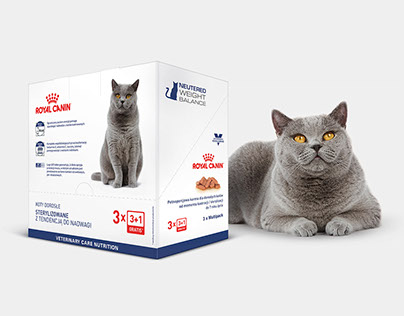 New Veterinary Care Nutrition packaging for Royal Canin