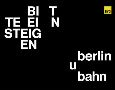 Berlin U-Bahn Typographic Poster