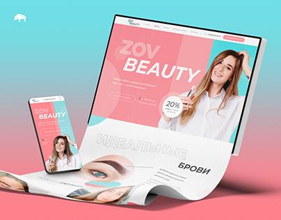 ZOV BEAUTY — Landing page