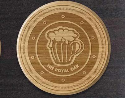 The Royal Oak Pub Coaster Designs
