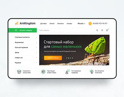 E-commerce Sale formicariums, ants and accessories