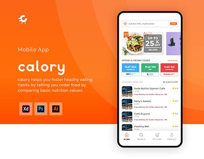 calory - App UI/UX