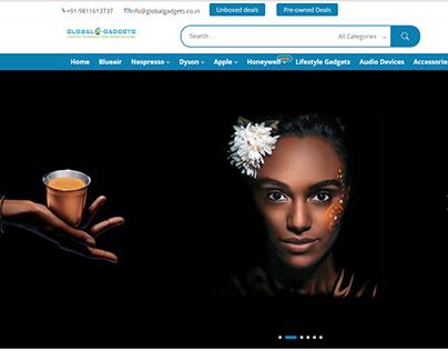 Website development for Global Gadgets