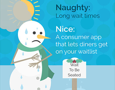 Naughty and Nice Restaurant Social Media Illustrations