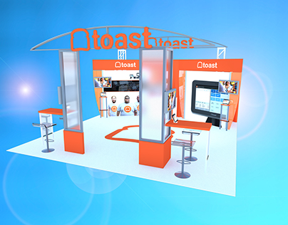 Toast 20x20 booth design