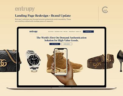 Entrupy Landing Page