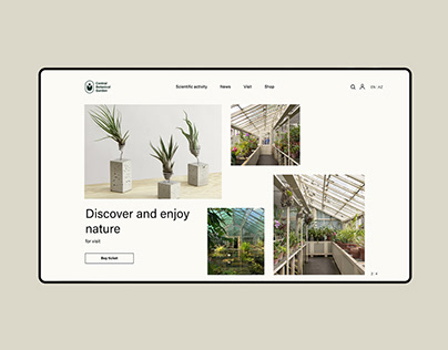 Central Botanical Garden Redesign App and Web (UX-UI)