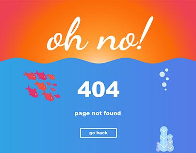 UI Challenge: 404 Page