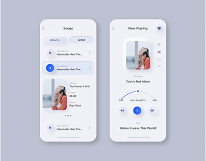 Song UI / UX Design