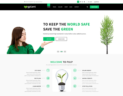 gPlant - Multipurpose ECO, Natural & Environmental PSD