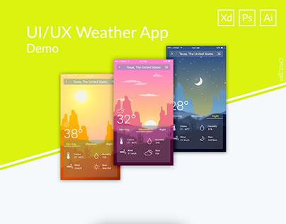 Weather App UI/UX Demo