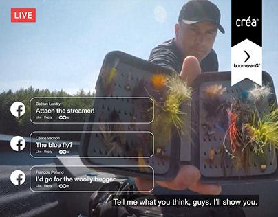 "Loto-Québec   Facebook Live ""Fishing Trip"" ticket"
