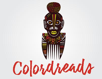 Logo colordreads. Criação para o salão estetica afro.