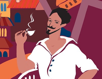 Coffee mates Maestro / identity design / Illustration
