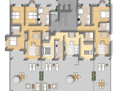 Floor plan rendering