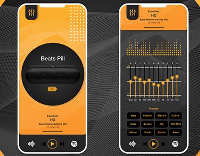 Prototype of music equaliser