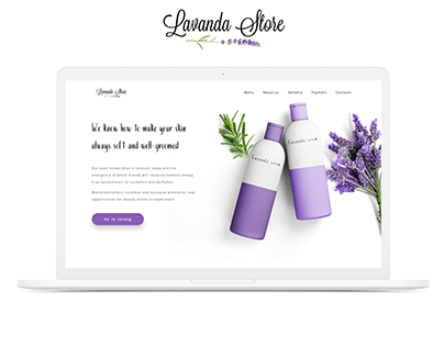 Lavanda Store — Website For Cosmetic Company