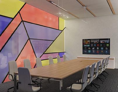 Boardroom for a software development company