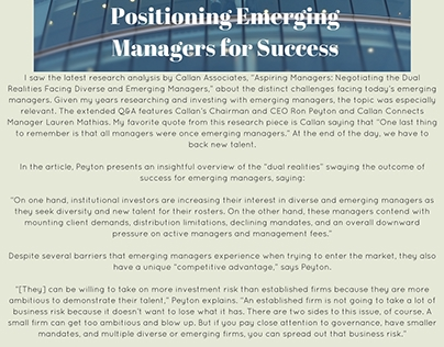 Raudline Etienne on Guiding Emerging Managers