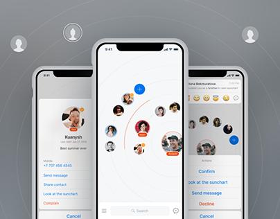Tuyskandar — sun chart, social app design concept