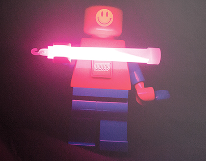 Legoman Acid House Poster