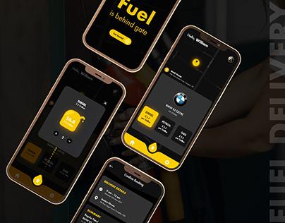 Fuel Delivery Mobile App UI
