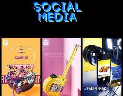 F5 social media presence 2d 3d- media production &motin