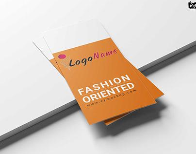 Free Fashion Type Tri-Fold Brochure Template