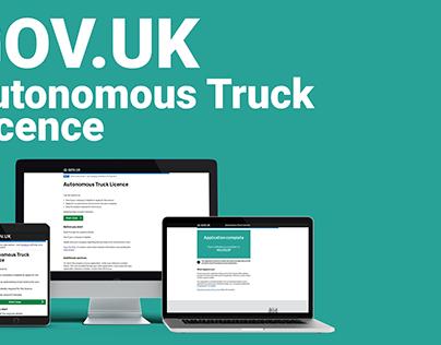 GOV.UK - Autonomous Truck Licence