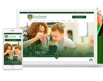 Custom Wordpress Template Design for a School