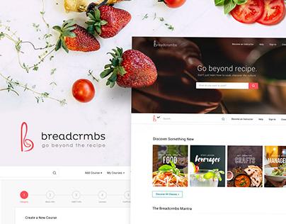Breadcrmbs | Web App + Branding + Marketing Designs
