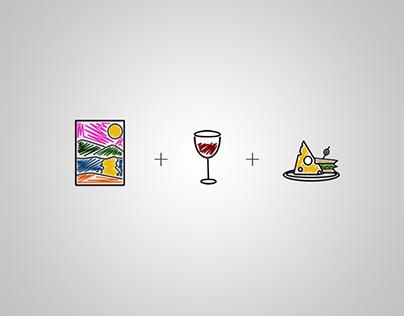 Art + Wine + Food