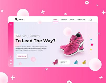 Shoe Company Landing Page Design Concept