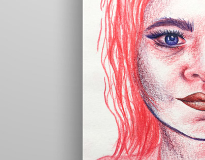 Colour pencil portraits