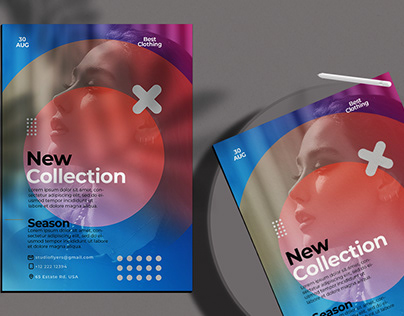 New Collection Flyer Free PSD Template