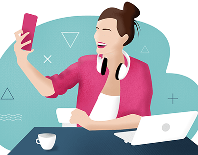 Selfie/Videocall Illustration
