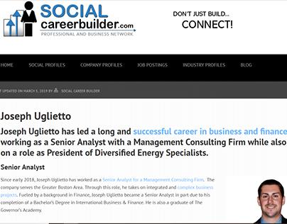 Social Career Builder - Joseph Uglietto