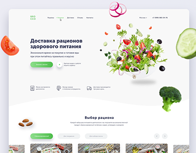 Landing page for Healthy Food Delivery