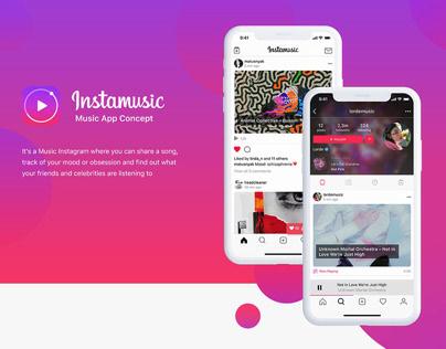 Free Figma Template (Instamusic - Music App Concept)