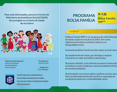 Folder para o Projeto Bolsa Família