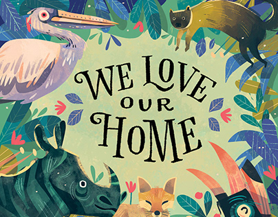We Love Our Home - Picture Book Illustrations