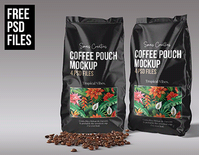 Coffee Pouch Packaging MockUp