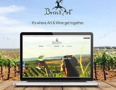 Brind'Art Winery Website