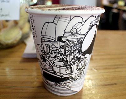Raglan Roast Coffee Cup Design www.raglanroast.co.nz